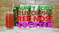 Rudolph's Red Nose Cocktail - https://www.barmasters.com/videos/rudolphs-red-nose-cocktail/ #barmasters