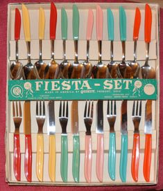 Fiesta flatware set, we don't offer these colors but have current colors you'll love.