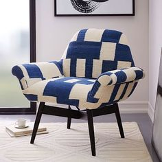 Orly Dhurrie-Upholstered Chair #westelm