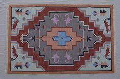 Navajo Cotton Dhurrie Rug - 4x6, Bohemian Rug, Kilim Rug, Moroccan Rug, Southwestern Rug, Bohemian Rug, Tribal Rug CD-130