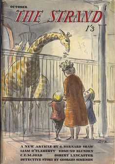 The Strand Magazine - October 1947 - cover by Edward Ardizzone (Diz) by mikeyashworth, via Flickr