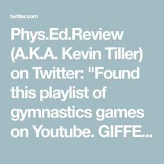 Gymnastics Games, Games On Youtube, Twitter, Gym Games