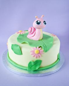 The Littlest Pet Shop snail birthday cake on http://cakejournal.com/cake-lounge/the-littlest-pet-shop-snail-birthday-cake/