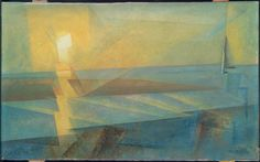 Lyonel Feininger, Sunset, 1930 | Museum of Fine Arts, Boston