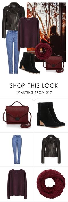 """""""Untitled #129"""" by aazraa ❤ liked on Polyvore featuring Loeffler Randall, Gianvito Rossi, Topshop, Karl Lagerfeld and A.P.C."""