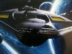 The Sovereign Class U.S.S. Enterprise which appeared in Star Trek The Next Generation Movies commander by Capt J Picard