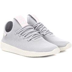 adidas Originals = Pharrell Williams Pharrell Williams Tennis Hu... (€99) ❤ liked on Polyvore featuring shoes, sneakers, grey, adidas originals trainers, adidas originals, grey shoes, tennis shoes and tennis sneakers