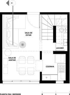 Galeria de Loft / Studio R 16 in 2020 Loft Studio, Narrow House Plans, Small House Plans, Loft Plan, Rv Homes, Apartment Floor Plans, Small Space Living, Studio Apartment, Micro Apartment