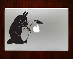 Totoro Holding Leaf m733 Design Decal Sticker Vinyl by DecalOnTop
