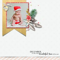 Christmas Digital Scrapbook Layout Idea