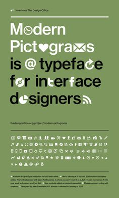 Modern Pictograms (2011) for Designers  #free #icons #pictograms