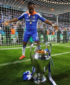 Didier with the European Cup