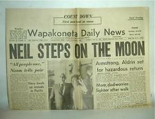 July 21, 1969. Neil Armstrong's hometown newspaper.
