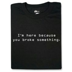 T-Shirts & Apparel :: Unisex Shirts :: Pop Culture :: ThinkGeek Crew Shirt, T Shirt, Take My Money, 30 Gifts, Work Shirts, Big Bang Theory, Bigbang, Funny Shirts, Nerdy