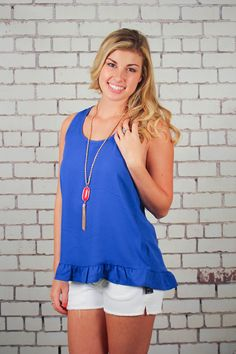 Good Vibes Top Bow Back Top - Blue