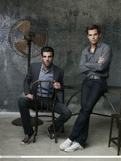 Zachary Quinto and Chris Pine.