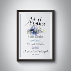 Mothers day print wall art decor printable by JKDigitalDesign