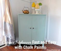 Cabinet Makeover fast and easy with #AnnieSloan #ChalkPaint via Chase the Star