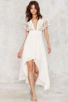 Nasty Gal Artemis Embellished Cape Dress | Shop Clothes at Nasty Gal!