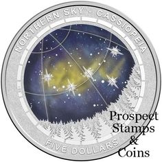 Royal Australian Mint :: 2016 Coin Releases :: 2016 Northern Sky - Cassiopeia Five Dollar Silver Proof Domed Coin Northern Nights, Star Formation, Proof Coins, Dollar Coin, Coin Collecting, Nymph, Silver Coins, Night Skies, Constellations