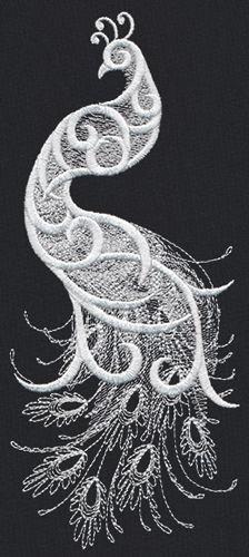White Peacock design (UT12331) from UrbanThreads.com