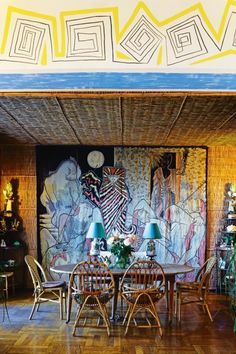 """House tour: the tattoo-walled, French Riviera home of artist Jean Cocteau: """"We see directly opposite us the island of Antibes,"""" he intones. """"Then Cannes, then Nice. And on our right is Villefranche."""" At times he remains silent, letting the camera slowly pan a room, allowing his artistry to speak for itself."""