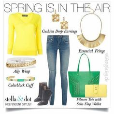 How cute is this for spring!! Happy March everyone! #sdmarch2016 #stelladotstyle #shop247online stelladot.com/wendyhagan