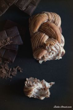 chocolate marble braided bread