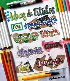 Bullet Journal School, Bullet Journal Headers, Bullet Journal Banner, Bullet Journal Ideas Pages, Bullet Journal Inspiration, Cute Notes, Pretty Notes, Bellet Journal, Journal Fonts