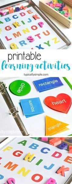Learning Activities Binder & Free Printable - Typically Simple Create a preschool learning activities binder with a free printable for letters and shapes. (ad)<br> Create a preschool learning activities binder with a free printable for letters and shapes. Preschool Learning Activities, Infant Activities, Educational Activities, Fun Learning, Activities For Kids, Learning Letters, Educational Websites, Early Learning, Learning Spanish