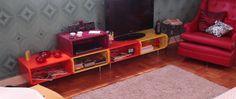 rack tangerina / caixas de feira