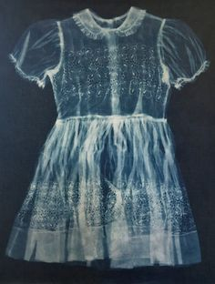 Kevin Rose Schultz is using the Jacquard Cyanotype Set to make gorgeous full scale prints of vintage dresses on fabric Kevin Rose, Cyanotype, Vintage Dresses, Scale, Fabric, Clothing, Prints, How To Make, Vintage Gowns