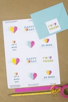 Loving these fun, bright Valentine's Day stickers. So cute to stick on Valentine's Day cards.