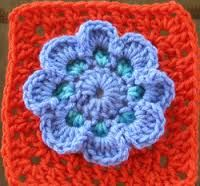 easy crochet granny squares free patterns - Google Search