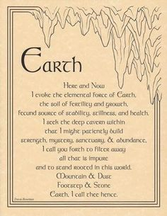 Earth Evocation Parchment Poster or Book of Shadows Page | eBay
