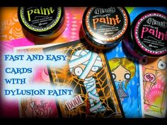 Fast and easy cards with Dylusions Paint!! - YouTube