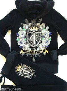 Juicy Couture Tracksuit Iconic Velour Hoodie Pants Track
