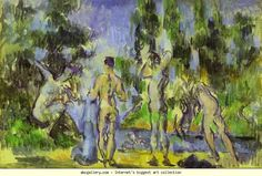 Paul Cézanne. Bathers. Olga's Gallery.