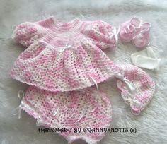 Lovingly handmade baby sweaters & items to be treasured by TilliesTreasury Crochet Baby Sweaters, Baby Girl Sweaters, Knitted Baby Clothes, Baby Knitting, Crochet Clothes, Sweater Set, Baby Girl Gifts, Handmade Baby, Baby Hats