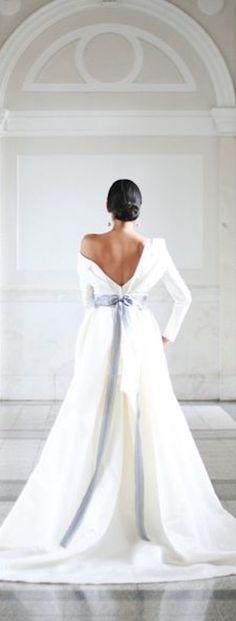 Carolina Herrera ~ White wedding gown 2017