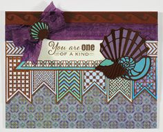 Paper Wishes® Weekly Webisodes, Scrapbooking Videos. Chocolate color me geometrics card toppers.