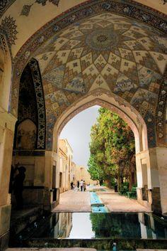Kashan, Iran: bargh-e fin, Fin Garden, or Bagh-e Fin, located in Kashan, Iran, is a historical Persian garden. It contains Kashan's Fin Bath, where Amir Kabir, the Qajarid chancellor, was murdered by an assassin sent by King Nasereddin Shah in 1852.