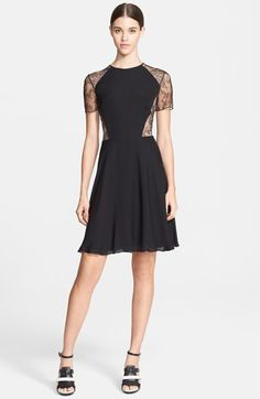 Jason Wu Floral Lace & Silk Georgette Dress available at #Nordstrom