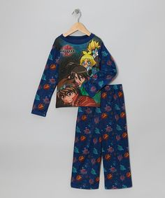 Take a look at this Blue Pajama Set - Boys by Bakugan on #zulily today!