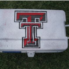 Customize painted cooler. Painted Coolers, Cooler Painting, Kappa Delta, Chevrolet Logo, College, Tech, Formal, Logos, Projects