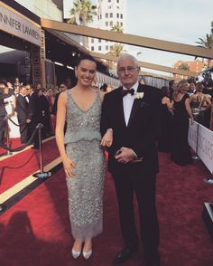 Daisy and her dad at the oscars!