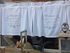 Scheibengardine Vorhang Gardine Bistro Weiß Vintage Landhaus Shabby Frankreich B | eBay