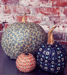 DIY Modge Podge Pumpkins
