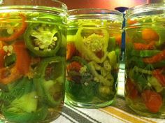 Hot Pickled Peppers