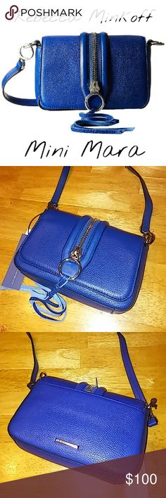 """NWT! Rebecca Minkoff Mini Mara Crossbody in Cobalt Brand new with tags Rebecca Minkoff Crossbody bag in the color Cobalt with Silver hardwear. Adjustable and fully detachable cross strap. Flap opening with snap button closure. 100% Genuine Leather. Will come with original RM dustbag. Size 7.5""""x5""""x2"""" Rebecca Minkoff Bags Crossbody Bags"""